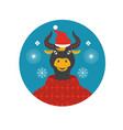 year bull greeting card year cow vector image
