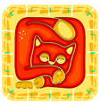 year cat chinese horoscope animal sign vector image vector image