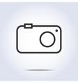 Simple camera icon gray color vector image