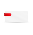 ribbon or bookmark with blank paper vector image