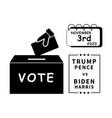 1328 vote trump pence vs biden harris november vector image