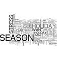 a three part plan to enjoy the festive season vector image vector image