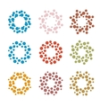 Abstract circle logotype set Unusual dotted round vector image vector image