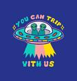 alien ufo print vector image vector image