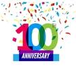 anniversary design 100th icon vector image vector image