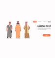 arabic men discussing standing together arab man