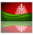 Beautiful Christmas gift card vector image