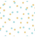 blue and gold confetti seamless pattern vector image vector image