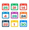 Calendar icons vector image vector image