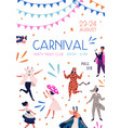 carnival party at night club promo poster vector image vector image