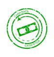 cashback rubber stamp vector image