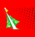 christmas perforated paper red modern background vector image vector image