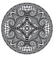 Circle lace ornament round grey ornamental vector image vector image