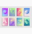 collection trendy colorful minimalistic covers vector image
