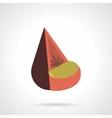 Cone soft seat flat color design icon vector image vector image