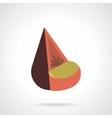 Cone soft seat flat color design icon vector image vector image