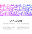 data science line design template vector image vector image
