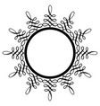 decorative round frame ancient art vector image vector image