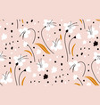ditsy floral background the elegant template vector image vector image