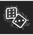 drawing business formulas dice vector image