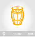 drum outline icon summer vacation vector image