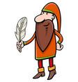 dwarf fantasy character vector image vector image
