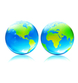 earth map globes vector image vector image