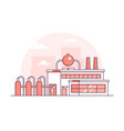 factory - modern thin line design style vector image vector image