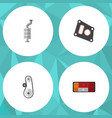 flat component set of gasket cambelt headlight vector image vector image