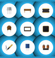flat icon appliance set of microprocessor resist vector image vector image