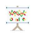 flipchart whiteboard screen with marketing data vector image