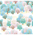 Forest in winter with snow vector image vector image