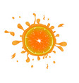 Fresh orange background with splashes vector image