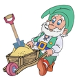 Gnome with a trolley vector image