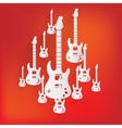Guitar icon Music background vector image vector image