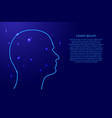 human head of a man from the contours network vector image vector image