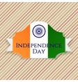 indian independence day label with ribbon vector image