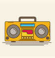 magnetic cassette player flat vector image