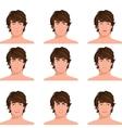 Man head emotions portraits set vector image vector image