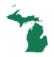 map of michigan vector image vector image