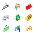 market icons isometric 3d style vector image vector image