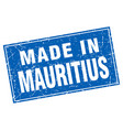 Mauritius blue square grunge made in stamp