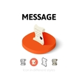 Message icon in different style vector image vector image