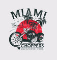 miami choppers vector image vector image