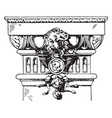 modern doric pilaster capital pilaster vintage vector image vector image