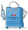 nurse mailbox character cartoon style vector image vector image