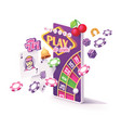 online mobile casino app concept vector image
