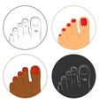 Pedicure and bodycare concept Icon set vector image