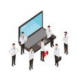 people staff medical professional laptop online vector image
