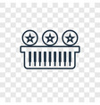 piano toy concept linear icon isolated on vector image